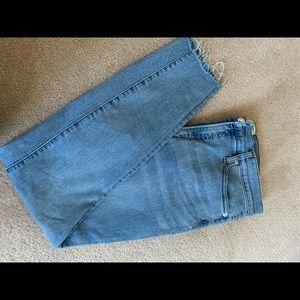 J.Crew skinny jean frayed hem, Size 31